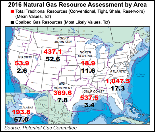 Map Of Natural Gas Reserves In Us Potential U.S. NatGas Reserves Hit Record 3,141 Tcf   Natural Gas