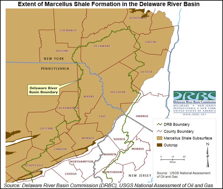 delaware river on us map Delaware River Basin Commission Step Closer To Banning Natgas delaware river on us map