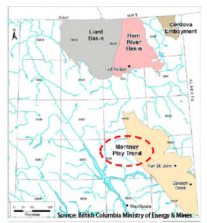 Horn River Basin BC Map