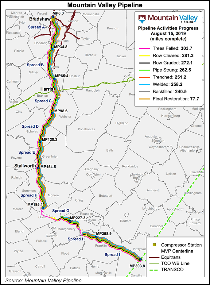 Mountain Valley Pipeline Map