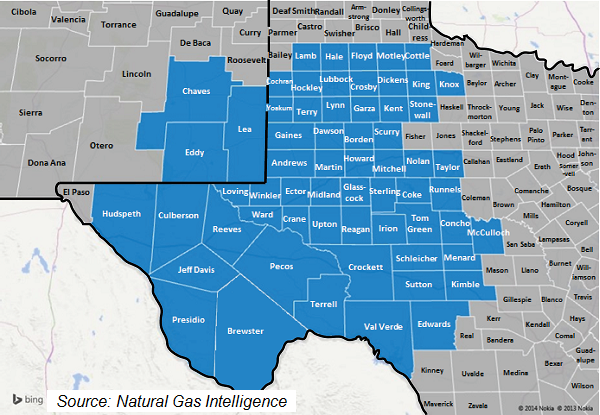 Permian Counties