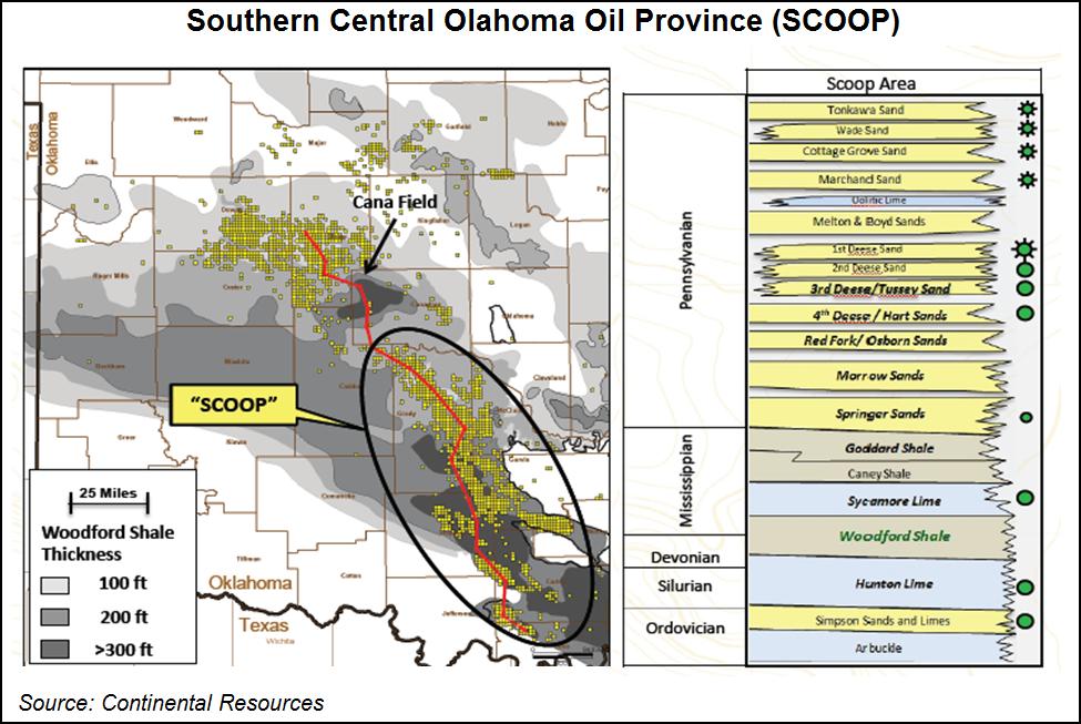 Oklahoma Liquids Plays SCOOP map
