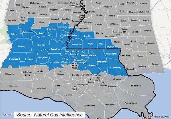 Tuscaloosa Marine Shale Counties