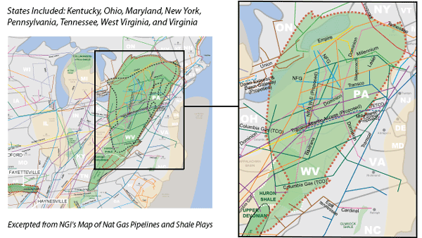 Utica Shale Map