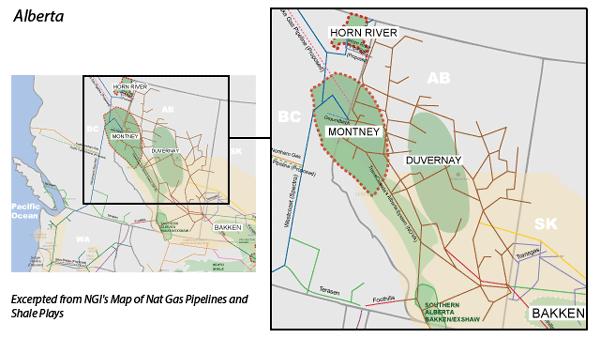 Duvernay Shale Map