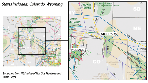 Niobrara-DJ Basin map