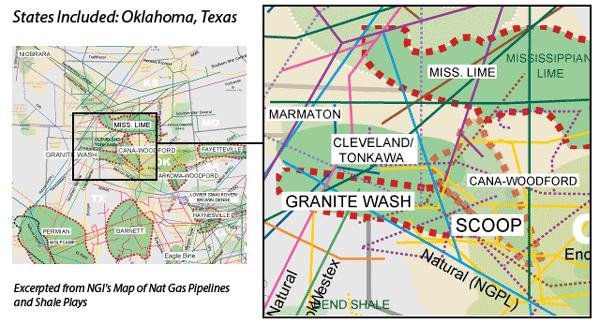 Oklahoma Liquids Plays Map