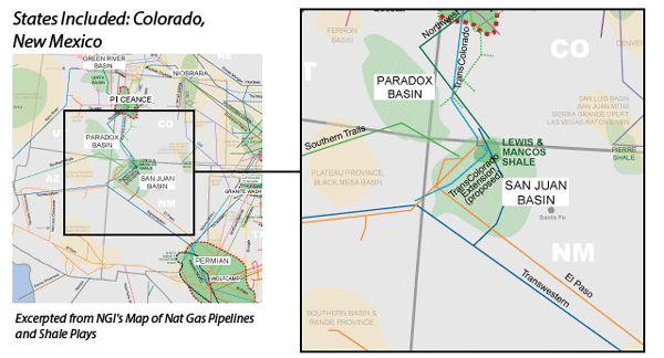 San Juan Basin Map