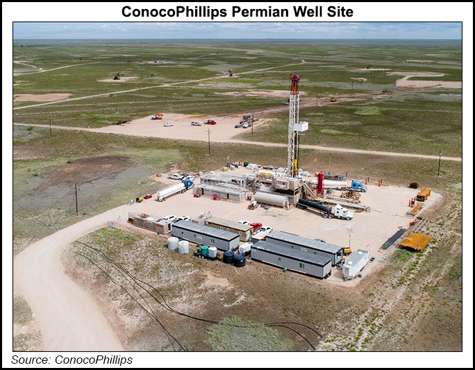 Conoco well site