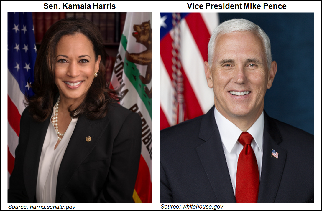 Harris Says Fracking Ban Off The Table As Vp Candidates Each Give Nod To Natural Gas Importance Natural Gas Intelligence